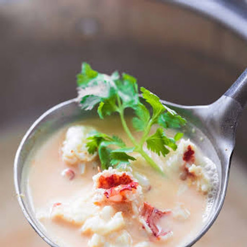 Maine Lobster Coconut Curry Soup