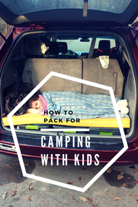 minimalist camping with kids