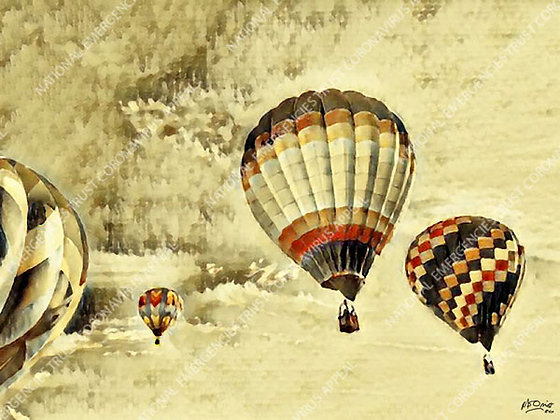 UP, UP AND AWAY (40x30cm)