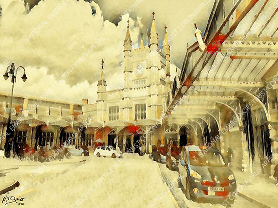 TEMPLE MEADS STATION (40x30cm)