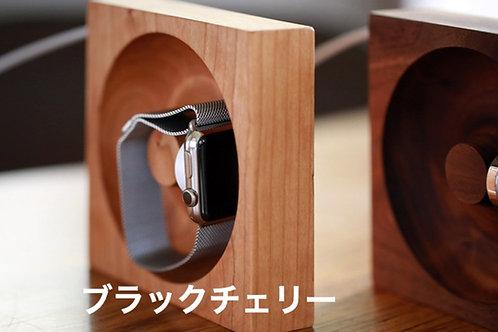 木製Apple Watch充電台【充電コード収納・壁掛け可能】