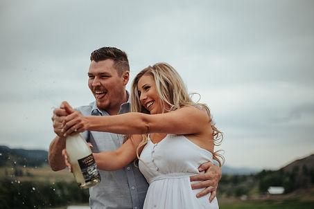 Monte Creek Winery - Engagement Photo