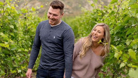 Monte Creek Winery Engagement Session - Margo + Cody
