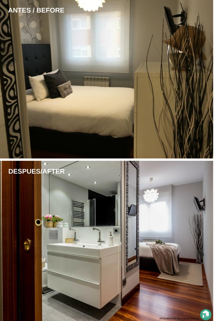 Home Staging Cantabria Fitoyourhouse Antes y después en dormitorio