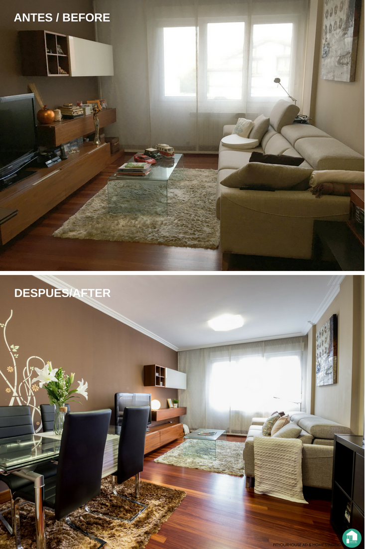 Home Staging Cantabria Fityourhouse Salon antes y después