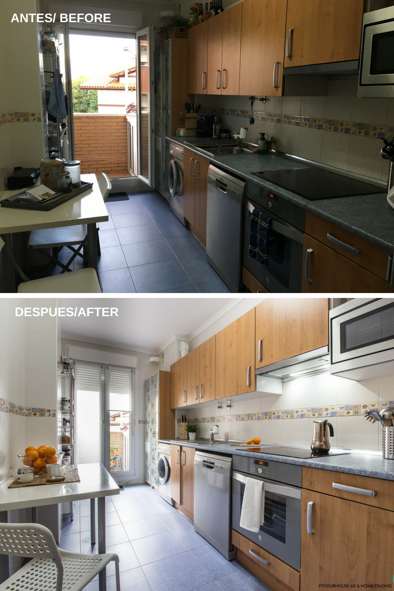 antes y después de Home Staging Cantabria Fityourhouse