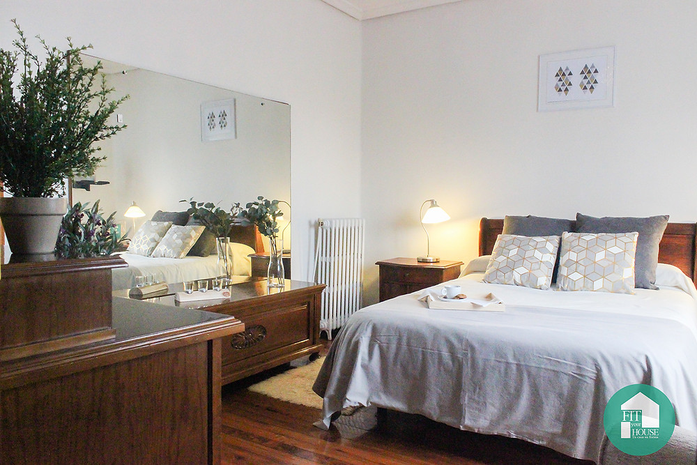 Dormitorio después de Home Staging Cantabria Fityourhouse