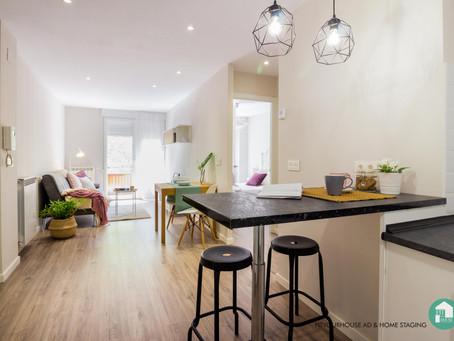 De mini piso anticuado a coqueto apartamento de diseño  en el centro de Santander
