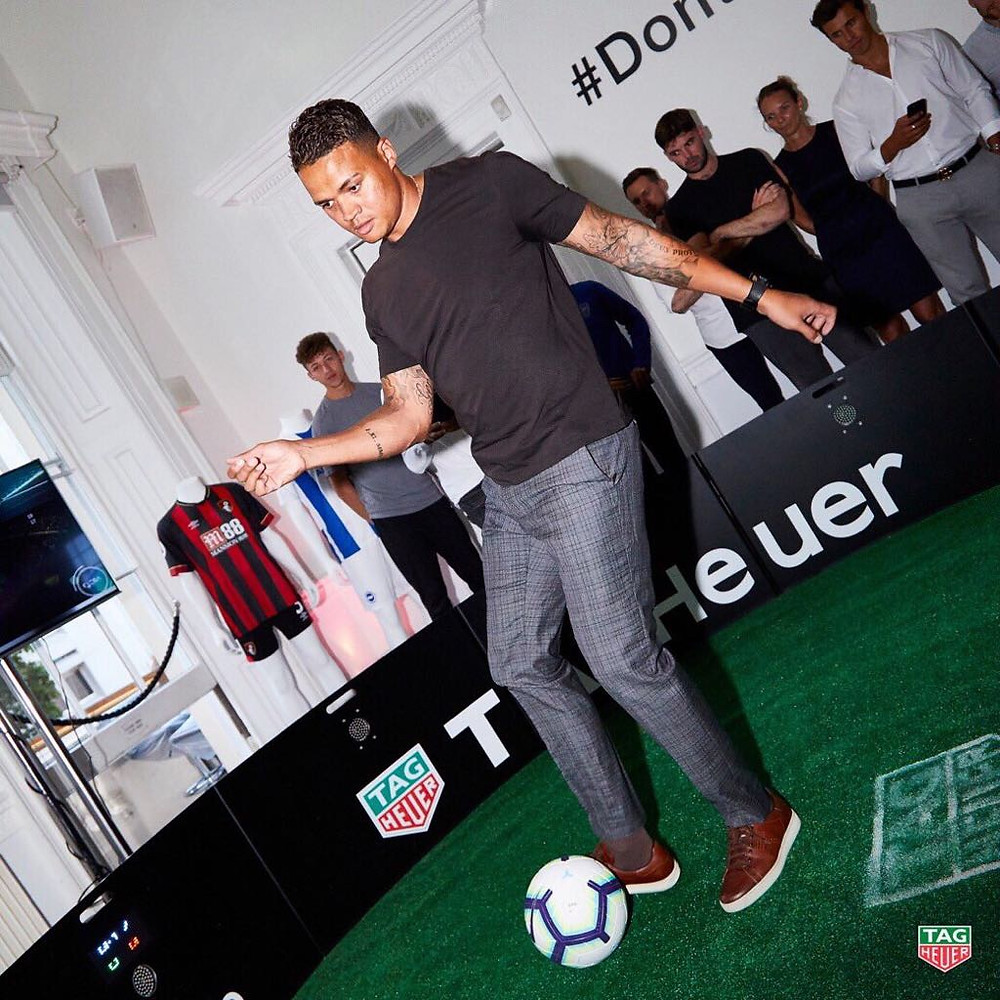 Jemain Jenas went in the ICON for Tag Heuer and ESA