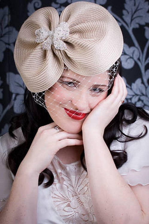 Cream ascot hat