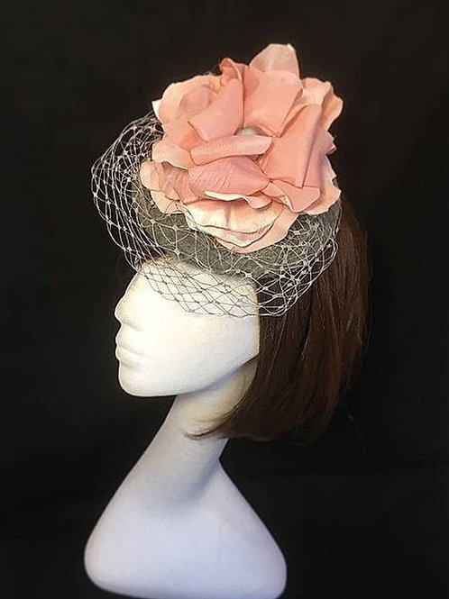 Pink flower cocktail hat FH7