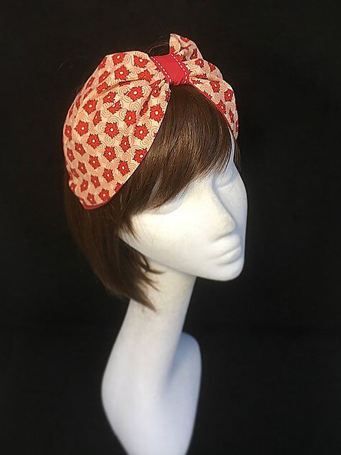 Red summer turban CB4