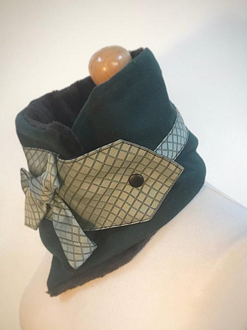 Green wool neck warmer