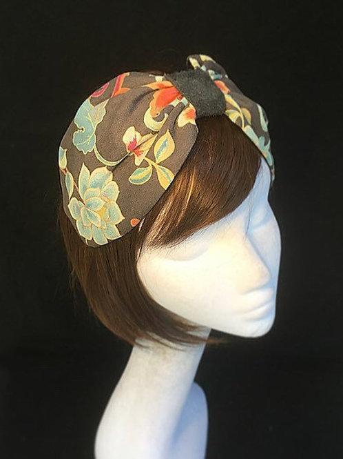 vintage floral turban CB11