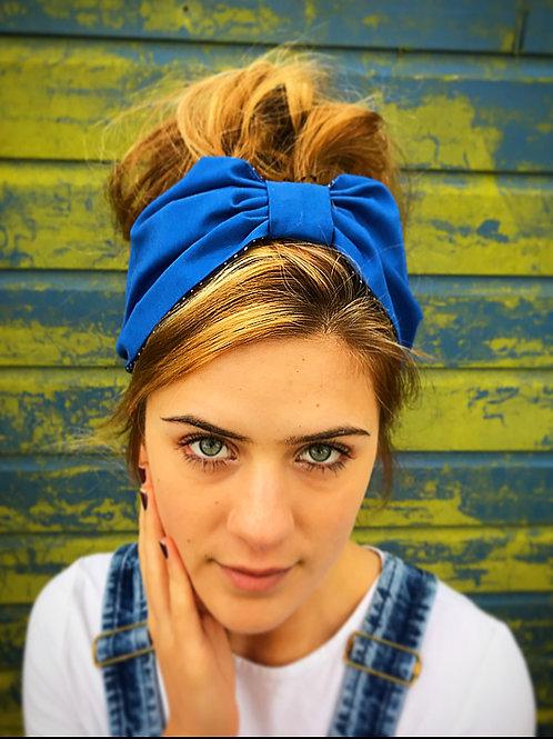 Plain blue turban band