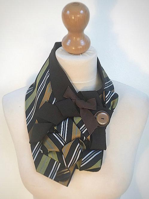 Brown striped cravat