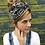 Thumbnail: Black and white print turban band