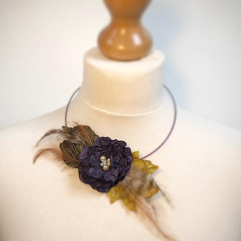 Purple flower necklace