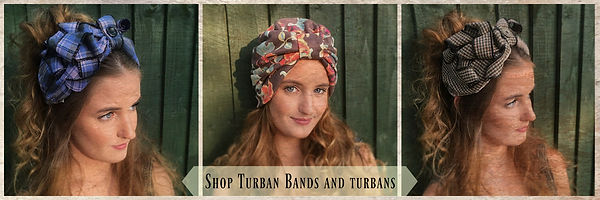 Turban bands shop tab, Vintage headdress