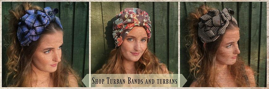 Turban bands shop tab, Vintage headdress