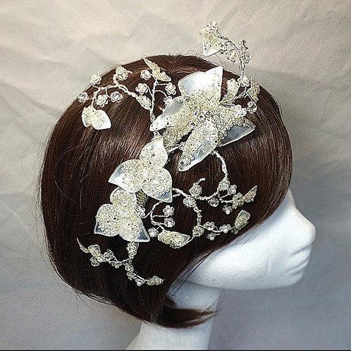 Butterfly hair vine
