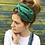 Thumbnail: Green gold ethnic turban band