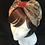 Thumbnail: Brown floral vintage turban band
