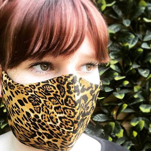 Sassy animal print face mask