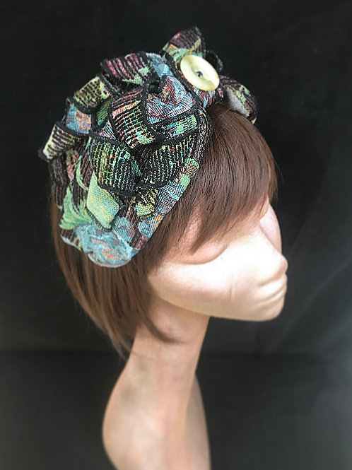 Floral tapestry turban band