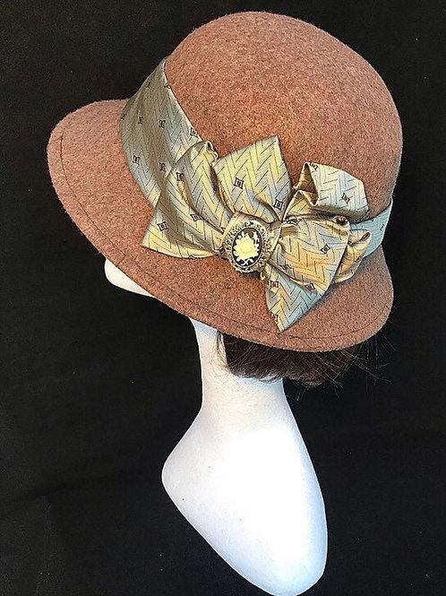 tan vintage hat