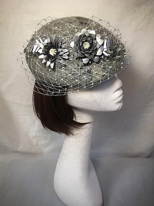 Silver grey vintage cap