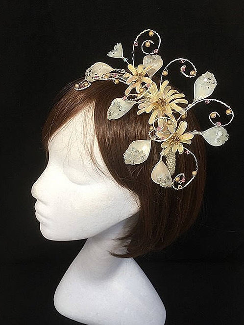 Cream beige fascinator 74