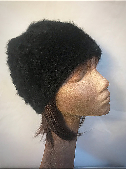 Small Angora black hat