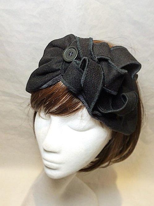 Black half turban TB5