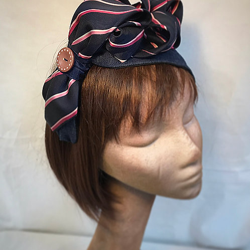 Asymmetrical denim turban band