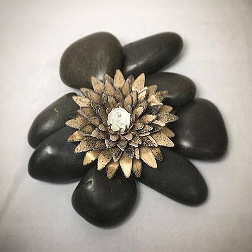 Bronze spiky brooch-clip