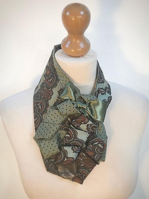 Green paisley cravat