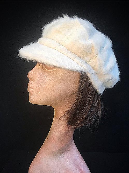 Cream baker boy cap