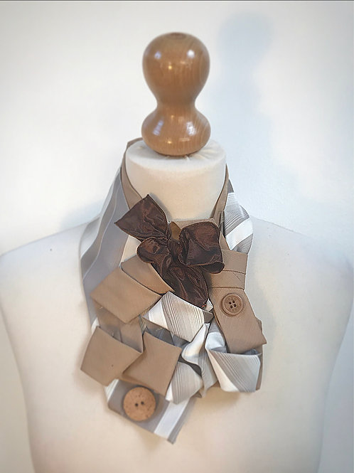 Beige brown neck cravat