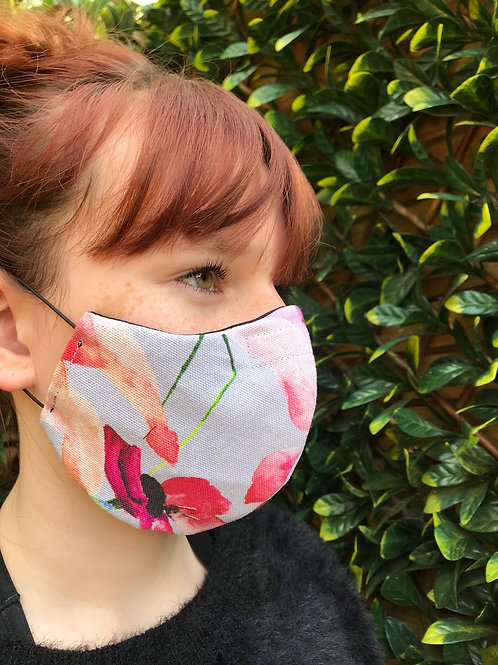 Orchid canvas facemask