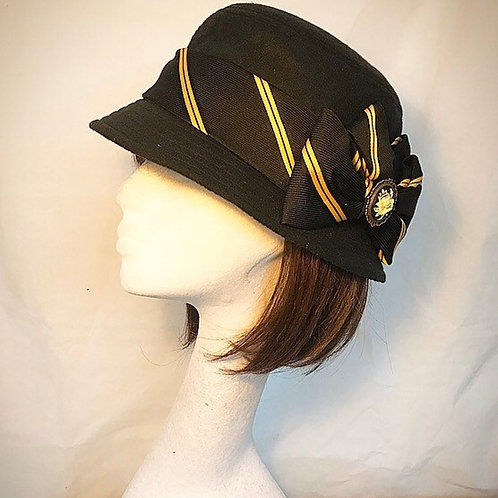 Black school retro hat