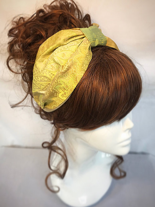 Lemon and green turban band