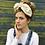 Thumbnail: Cream floral turban band