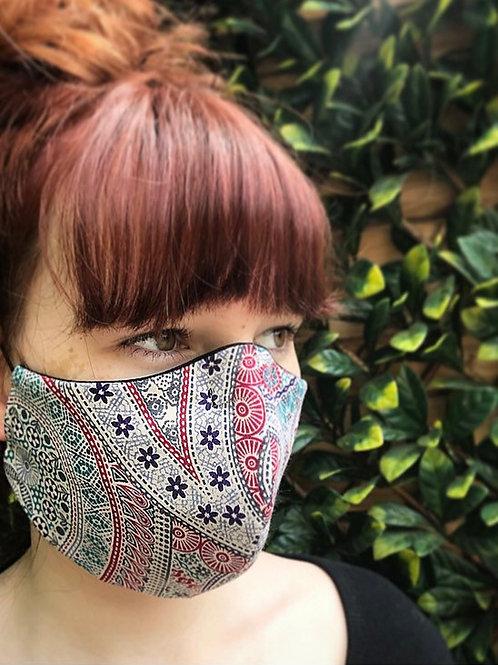 Boho paisley face mask