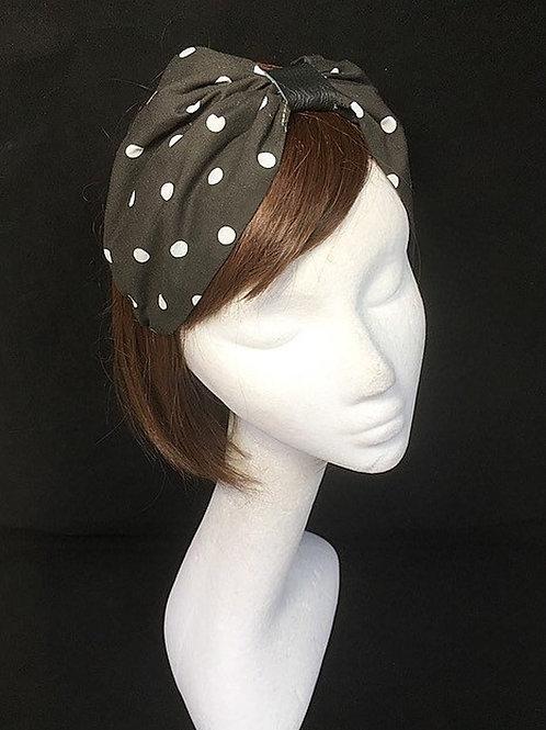 Black turban hairband CB12