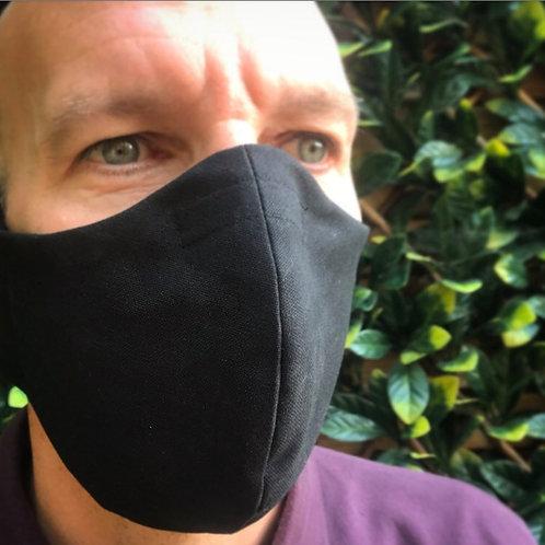 Mans large black face mask