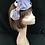Thumbnail: Silver and  lilac asymmetrical turban band