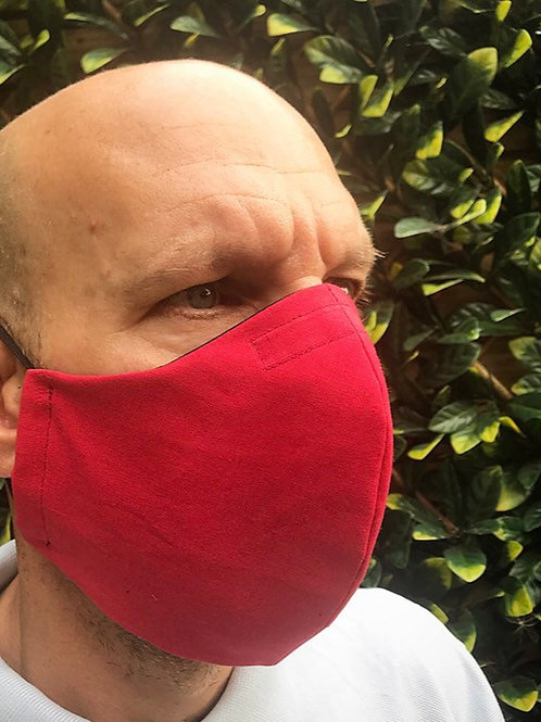 Mens large red face mask