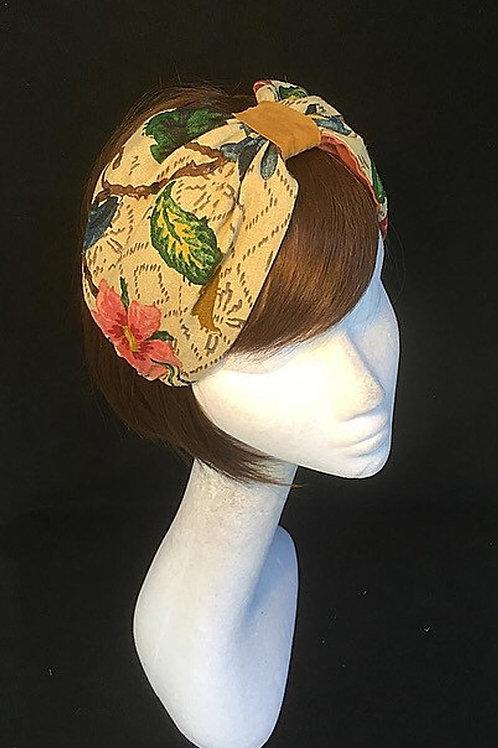 Vintage floral turban CB2