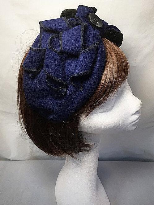 Navy blue half turban TB7